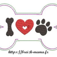 Broderie ITH OS chien - Motif 1
