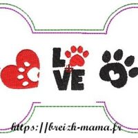 Motif broderie Os ITH chien 2