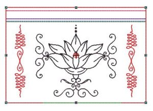 Motif broderie ITH trousse lotus