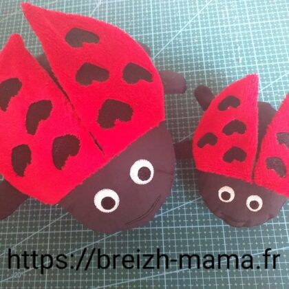 Motif broderie Coccinelle ITH