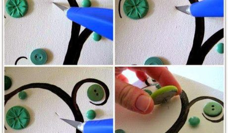 DIY Tableau bouton