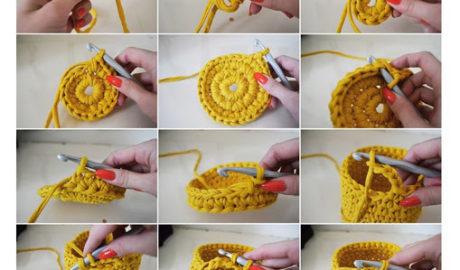 Corbeille en crochet