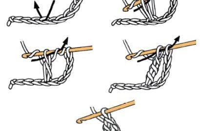 triple bride au crochet