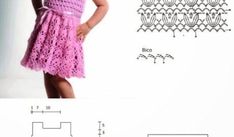 Robe fillette au crochet