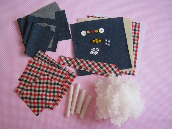 couper les pièces de tissu