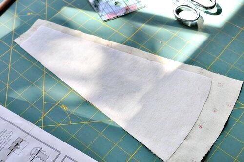 Préparation des pièces de tissu