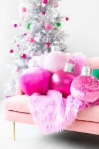 boules de Noël décoratives en tissu