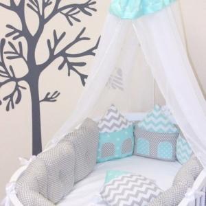 couture : Tour de lit bébé maison