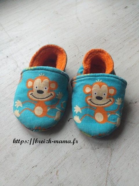 Coudre des Chaussons tissu bébé