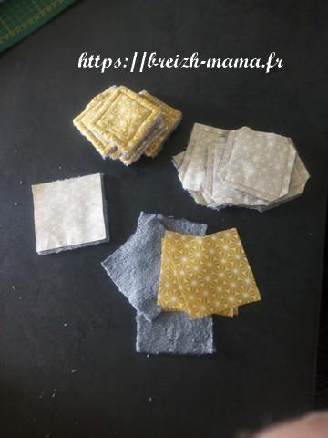 Decouper votre tissus et assembler endroit contre endroit