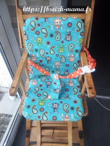 Housse de chaise haute bébé