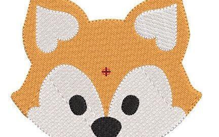 Motif broderie tête de renard