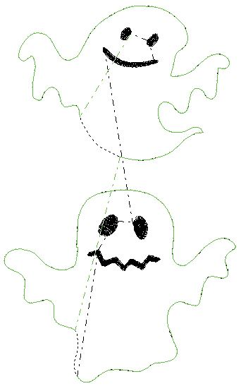 Coudre Fantômes Halloween Broderie ITH