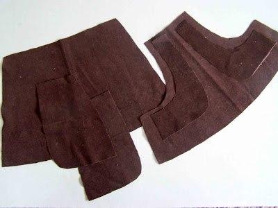 Préparation des pièces de tissu de la jupe Sailor