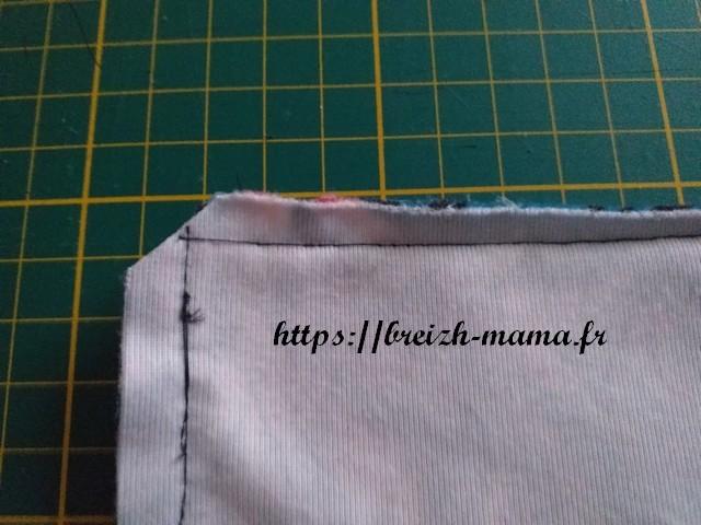 Couper les angles du coussin berlingot