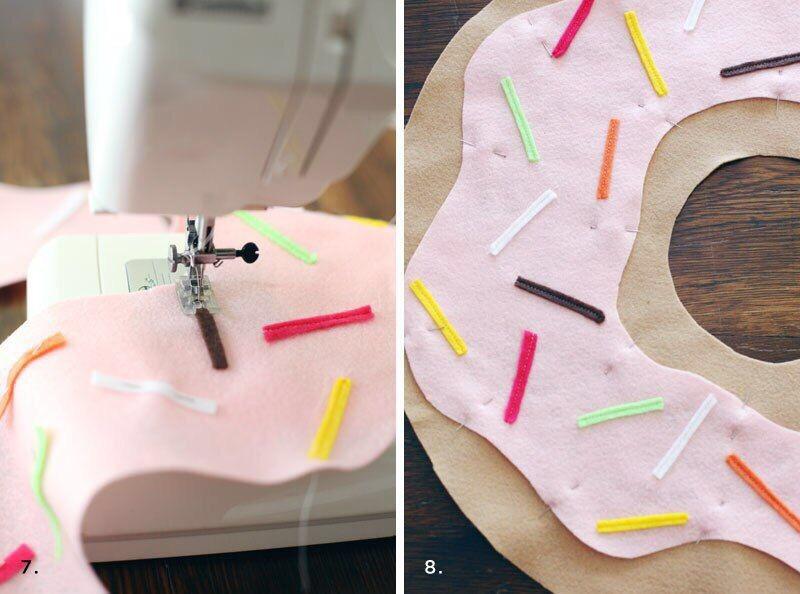 Coussin cuppcake en tissu cousu main