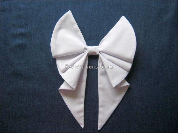 Coudre un nœud de robe de mariée