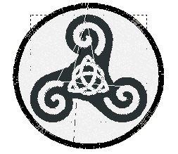 Motif broderie écusson triskell gratuit