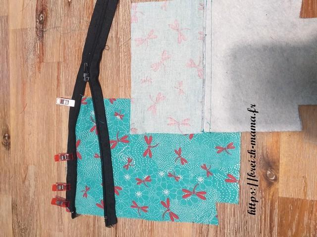 Placer le tissu extérieur par dessus endroit contre endroit
