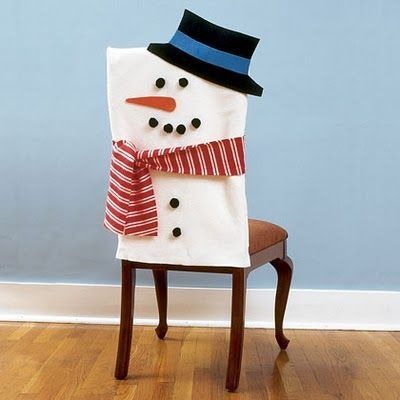 Idées couvres chaises bonhomme de neige