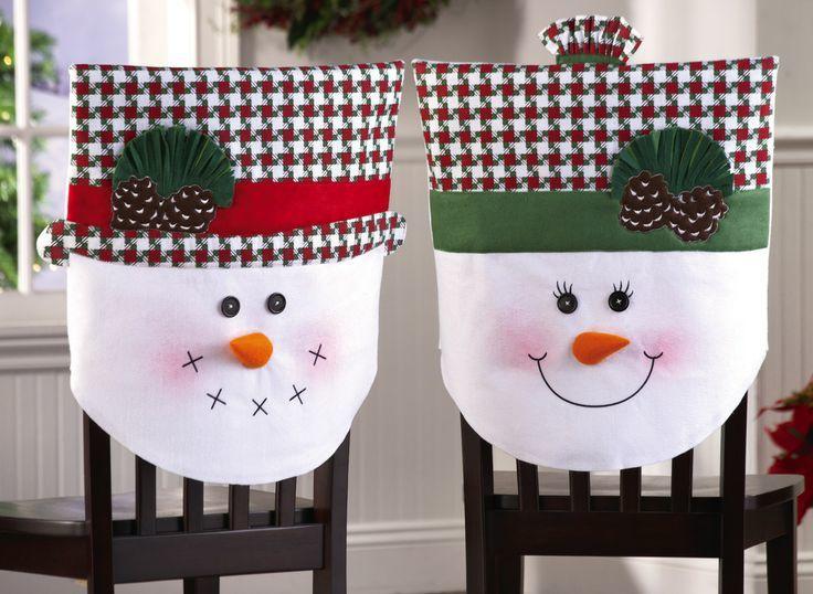 Couvres chaise bonhomme de neige