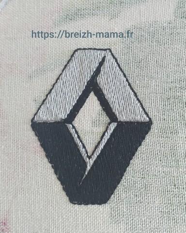Logo renault brodé