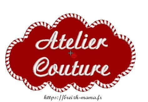 Motif broderie nuage atelier couture appliqué