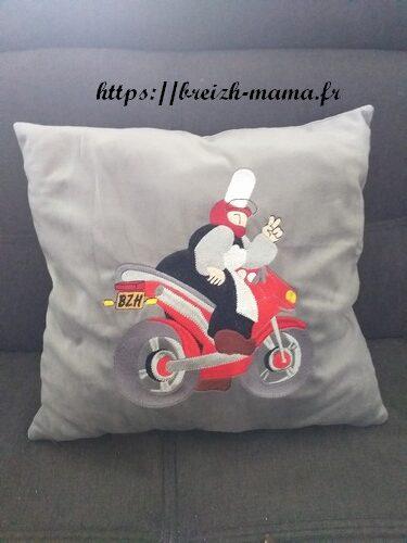 Coussin Mam Goudig à moto