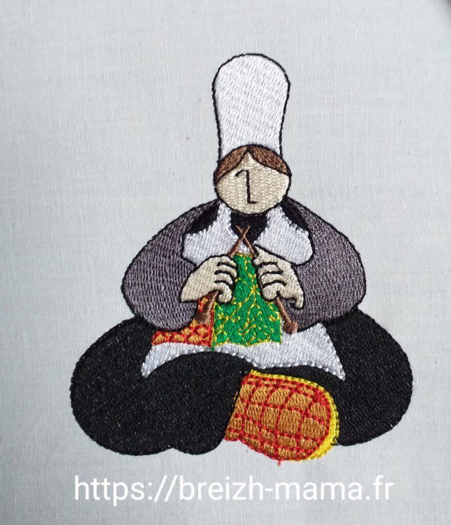 Motif broderie Mam Goudig tricote