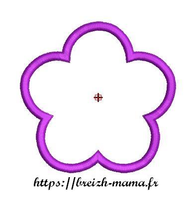 Motif broderie ITH Lingettes Fleur