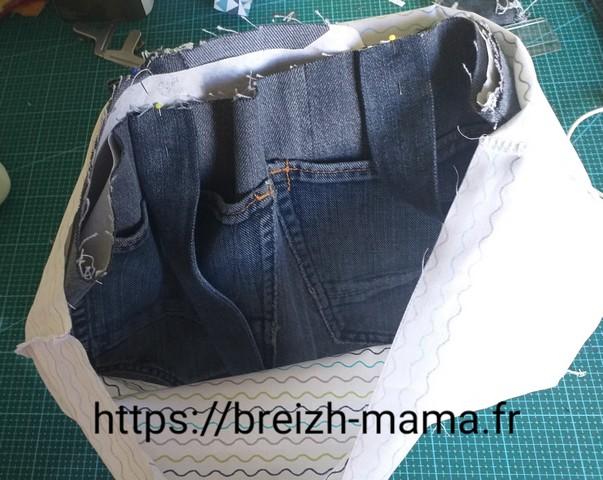 14 - Enfiler votre poche extérieure dans votre doublure