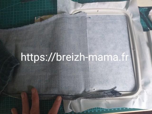 4 - Placer le tissu extérieur au dessus