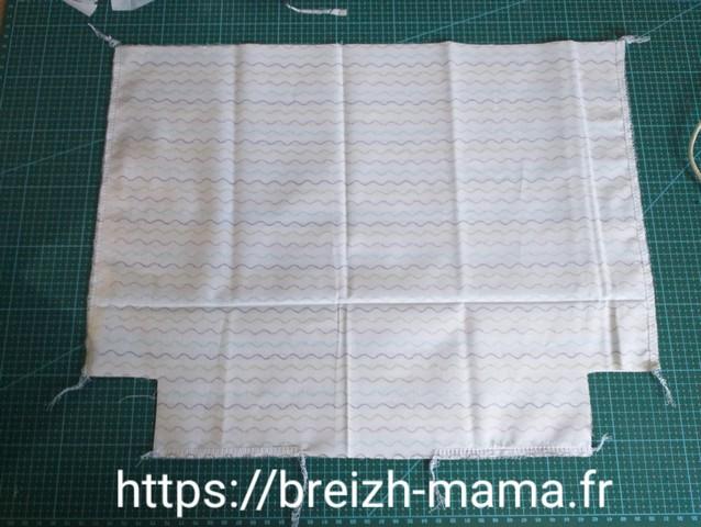5 - Coudre le long des lignes latérales et basse en laissant une ouverture