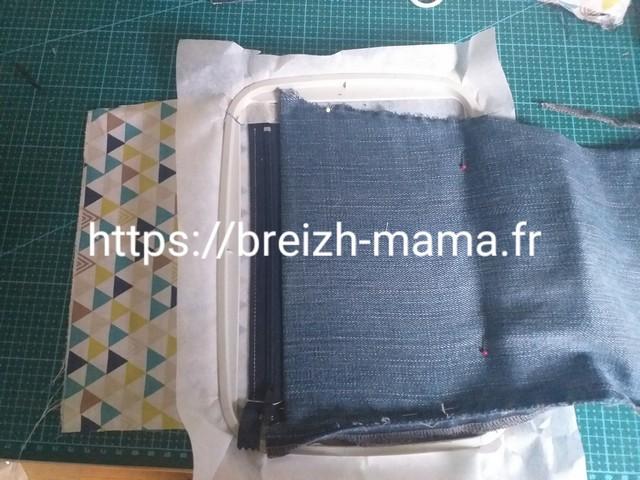 5 - Rabattre le tissu extérieur du bon côté