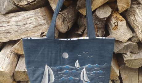 Couture - Recyclage Jeans - tote bag
