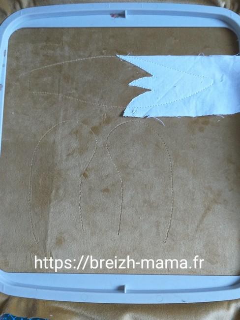 Couper les excédents de tissu