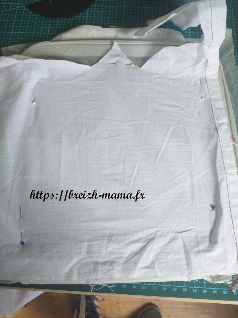4 - Recouvrir l'arrière de votre 2ème pièce de tissu