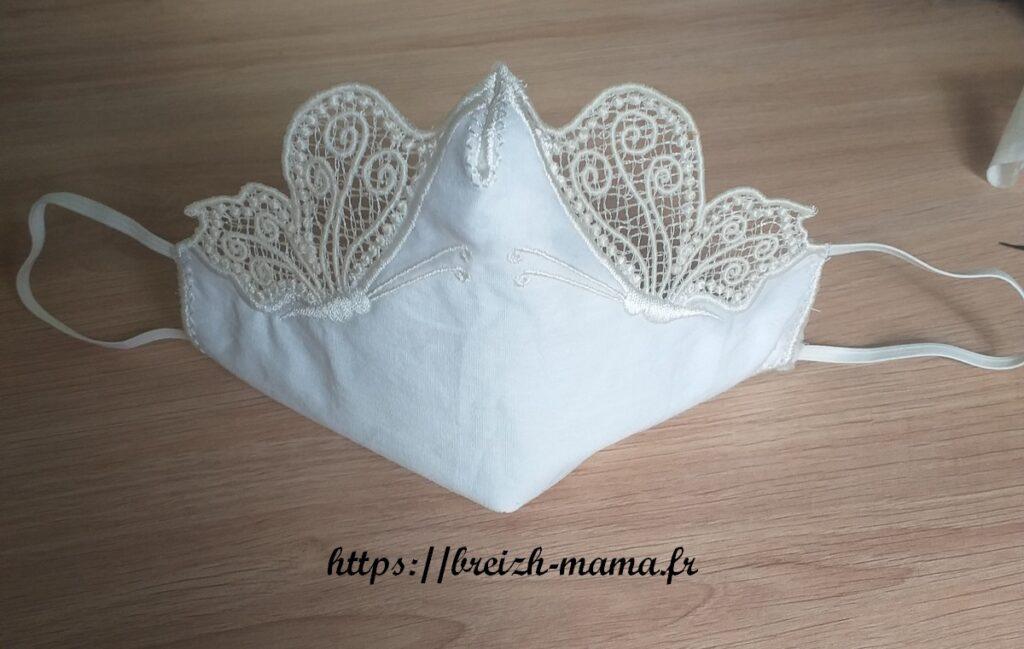 Masque Papillon blanc