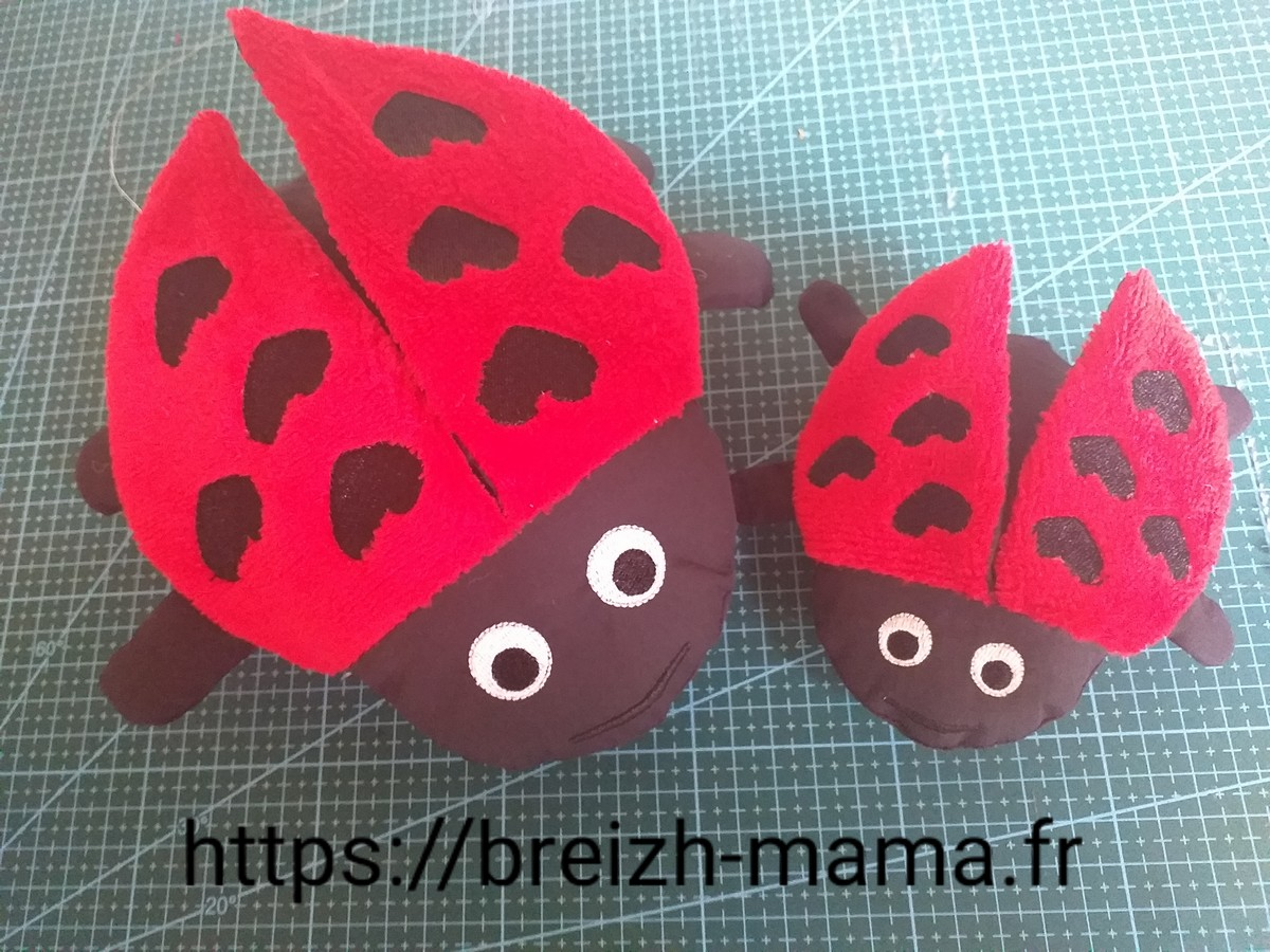Broderie coccinelle ITH