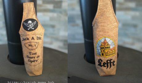 couture Sac étui à bouteille personnalisé
